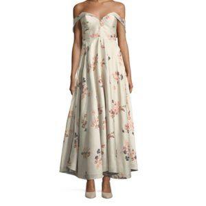 Co Los Angles Off The Shoulder Floral Dresss  L